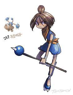 Pokemon Gijinka 236. Tyrogue 237. Hitmontop >> Hitmonlee gijinka >> Hitmonchan gijinka