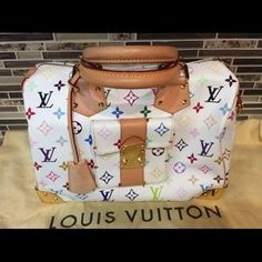 louis vuitton multicolor speedy 30 white - Google Search