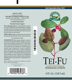 Tei Fu® Massage Lotion (4 oz. tube) great for restless legs and headaches!! Found in local health food stores. I will never go without it!
