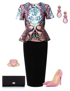 """""""outfit 2141"""" by natalyag ❤ liked on Polyvore featuring Tome, Mary Katrantzou, Christian Louboutin and Dolce&Gabbana"""