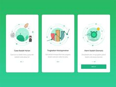 40 Mobile Apps Onboarding Designs for Your Inspiration - Hongkiat Web Design, Design Sites, App Ui Design, User Interface Design, Logo Design, Graphic Design, Mobile App Design, Mobile Ui, Mobile Game