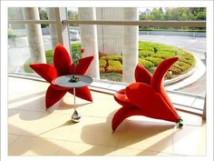 Living Room house design design home design Funny Furniture, Unique Furniture, Furniture Design, Furniture Ideas, Floral Furniture, Unique Sofas, Furniture Chairs, Garden Furniture, Red Lily Flower