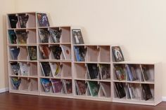 Beautiful Custom Record Shelves