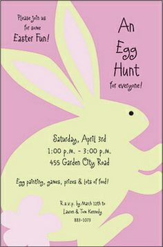 Easter Bunny Invitations