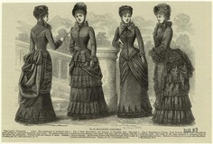"""Mourning costumes. (1883)"""