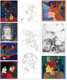 Als ich um 20 war, zeichnete ich selber viel – diese Zeichnungen liegen weit zurück... Gallery Wall, Frame, Home Decor, Pool Chairs, Templates, To Draw, Picture Frame, Decoration Home, Room Decor