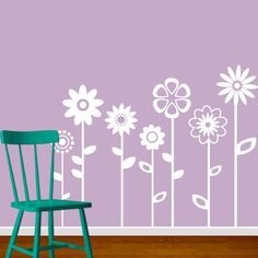 Flowers Wall Decal VInyl Sticker