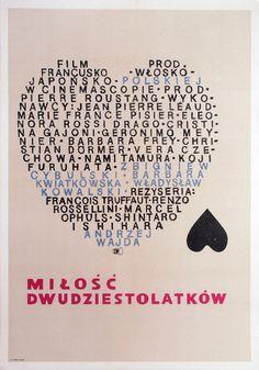 Love at Twenty, Polish Movie Poster Andrzej Onegin Dabrowski Polish Movie Posters, Film Posters, Poster On, Poster Prints, Renz, Information Poster, Original Movie Posters, Pad, Love