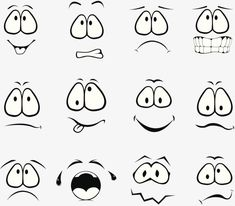 Cartoon Faces Expressions, Cartoon Expression, Drawing Cartoon Faces, Cartoon Art, Rock Painting Patterns, Rock Painting Designs, Creepy Drawings, Easy Drawings, Stone Crafts