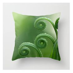 For living room Fern Pillow Cover Fern Pillow Cover Natural History Woodland Forest Scene Green Fern Delicate Things Sweetness Green Forest