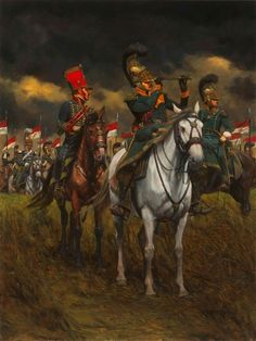 French cavalry at Waterloo- by Keith Rocco Military Weapons, Military Art, Military History, Military Tactics, Military Uniforms, Edouard Detaille, Bataille De Waterloo, Battle Of Waterloo, Waterloo 1815