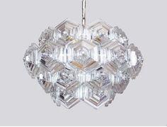 Glass Prisms Mid Century SPUTNIK CHANDELIER Germany by muromant