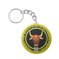 Shop Valxart Taurus zodiac logo Keychain created by ValxArt. Astrology Taurus, Things To Buy, Stuff To Buy, Vegan Beauty, Zodiac, Personalized Items, My Love, Logos, Chains