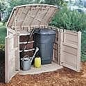 How To Make A Outdoor Garbage Can Shed