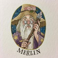 In a land of myth and a time of magic, the destiny of a great kingdom rests on the shoulders of a young man. Merlin by Melody Howe Arte Do Harry Potter, Harry Potter Artwork, Harry Potter Illustrations, Theme Harry Potter, Harry Potter Pictures, Harry Potter Drawings, Harry Potter Wallpaper, Harry Potter Characters, Harry Potter Fandom