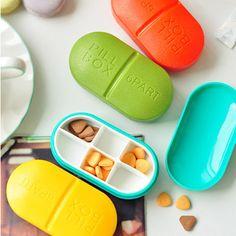 Novelty Pill Box 4/6 Parts Medicine Organiser Tablet Storage Dispenser Travel | eBay