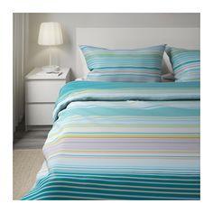 PALMLILJA Duvet cover and pillowcase(s) - Full/Queen - IKEA____________Pretty!! <3