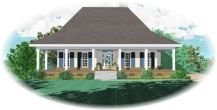 Colonial House Plan chp-29121 at COOLhouseplans.com