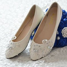 White Lace Floral Bling Bride Wedding Shoe High Heels Flat Platform Party  013 O Wedding Wedges 68a3a9ba587a