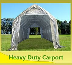 Carports - 28x12 Carport GreyWhite  Garage Storage Canopy Shed Car Truck Boat Carport  By DELTA Canopies -- Continue to the product at the image link. (This is an Amazon affiliate link)