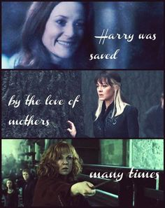Lily Potter, Narcissa Malfoy, Molly Weasley- never thought of it this way~ Harry Potter Love, Harry Potter Fandom, Lily Potter, Must Be A Weasley, No Muggles, Mischief Managed, Mothers Love, Boys Who, Hunger Games