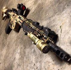 (custom Multicam BCM rifle) guns, weapons, self defense, protection, carbine, AR-15, 2nd amendment, America, firearms, munitions #guns #weapons