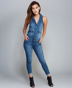 4e40591fcf1 Beauty Denim Jumpsuit   Cute Denim Jumpsuit
