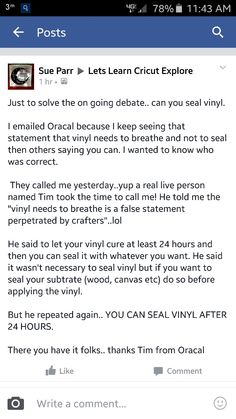 You can seal vinyl