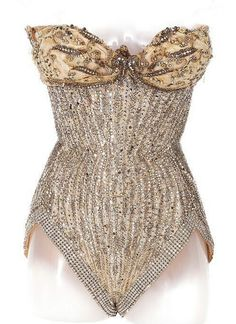 Vintage showgirl corset costume worn by Natalie Wood in the role as Gypsy Lee Rose in Gypsy in 1962. Now owned by Dita Von Teese