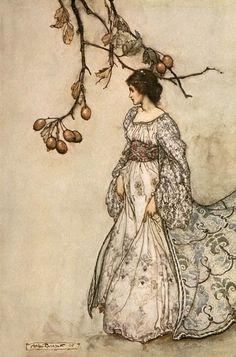 arthur rackham illustrations   art, arthur rackham, fairy, fairytale, femininity, illustration …