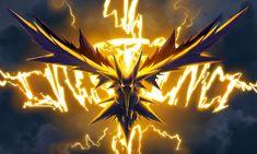 Vídeo Game Pokemon GO  Team Instinct Zapdos (Pokemon) Papel de Parede