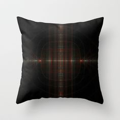 NeonSeries009 Throw Pillow by fracts - fractal art - $20.00