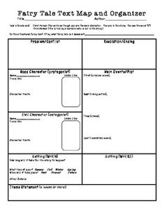 Fairy Tale Text Map and Writing Organizer