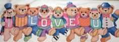Chorus Line Bears Baby Gift Dimensions Hallmark Cross Stitch Kit w Aida Sealed
