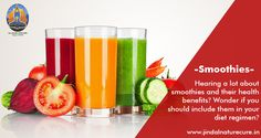 Hearing a lot about smoothies and their #health benefits? Wonder if you should include them in your #diet regimen?  Smoothies help: •	Get a healthy dose of veggies and #fruits on a daily basis •	Digestion, are delicious and also work as a detox mechanism for the body •	#Weight loss and strengthen immune system •	Your #beauty regimen too! •	Proper #Digestion, are delicious and also work as a detox mechanism for the body We recommend that you identify the smoothie that will work best for you..