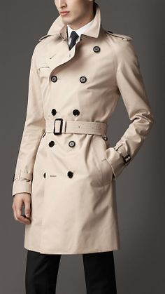 Every guys must have one at some point. Burberry trench. coat. Elegant and timeless