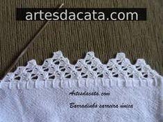 Imagen relacionada Diy Crochet, Crochet Hats, Crochet Edging Patterns, Cross Stitch Kits, Free Pattern, Diy And Crafts, Crocheting, Google, Crochet Borders