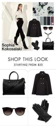 """Sophia Kokosalaki"" by dezaval ❤ liked on Polyvore featuring Sophia Kokosalaki, Paul & Joe, Monsoon, Ray-Ban, Isotoner and Charlotte Russe"