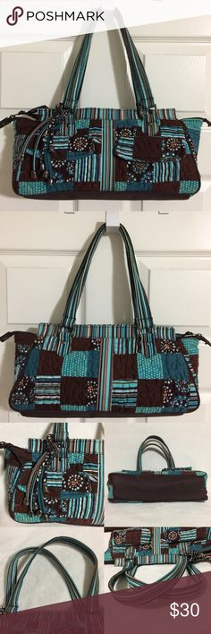 Ing This Donna Sharp Turquoise And Brown Quilted Purse On Poshmark My Username Is