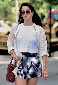 Lana Del Rey out in New York on September 18th, 2014.