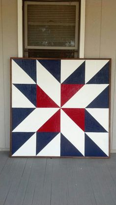 Barn quilt  created in Washington Kansas!  Visit & Like our Facebook page! https://www.facebook.com/pages/Rustic-Farmhouse-Decor/636679889706127