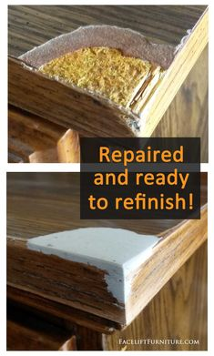 upcycling möbel Repair and replace missing veneer, Formica or wood on furniture, #
