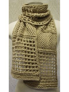 Free Crochet Pattern Download -- This Tunisian Scarf, designed by Lena Skvagerson, is featured in episode 10, season 6 of Knit and Crochet Now! TV. Learn more here: https://www.anniescatalog.com/knitandcrochetnow/patterns/detail.html?pattern_id=210&series=2