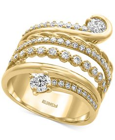 D'Oro by EFFY® Diamond Wrap Ring (1-1/5 ct. t.w.) in 14k Gold | macys.com