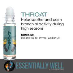 Throat - Helps soothe and calm bronchial activity during high seasons #essentiallywell #diykit #makeandtakekit #essentialoils #reflexology