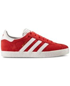 adidas Boys' Gazelle Casual Sneakers from Finish Line - Red 5.5