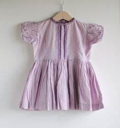 RESERVEDVintage 1950's Toddler Girl Dress  PURPLE von hartandsew, $21,00