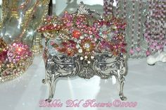 Vintage PINK Jewely in French Box