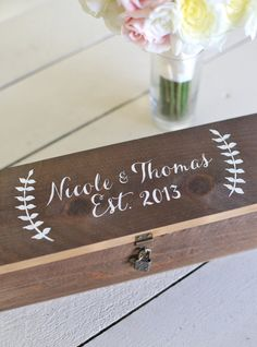 Personalized Wine Box by Morgann Hill Designs, $60 (oof), braggingbags