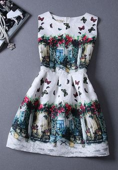 ButterflySleeveless Vest Dress